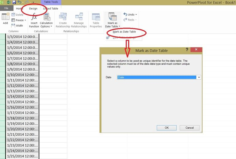 How to create a date table in PowerPivot with one single value - Kohera