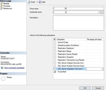Executing a stored proc with openrowset query in a SQL Server job