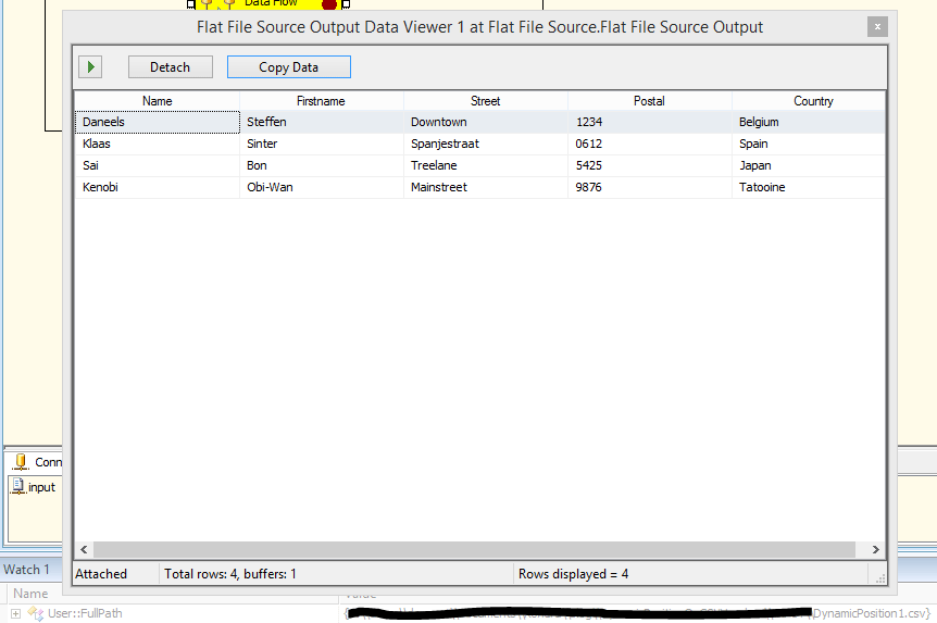 Dynamic data column position for flat files in SSIS - Kohera