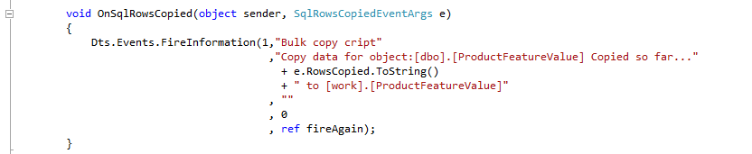 Meta driven SSIS and bulk copy SSIS packages - Kohera